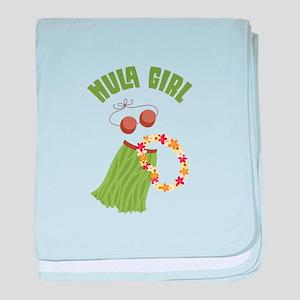 Hula Girl baby blanket