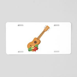 Ukulele Instrument Aluminum License Plate