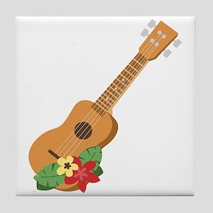 Ukulele Instrument Tile Coaster