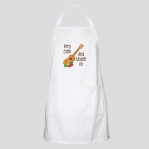 keep Calm And Ukulele On Apron