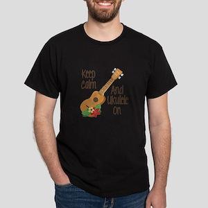 keep Calm And Ukulele On T-Shirt