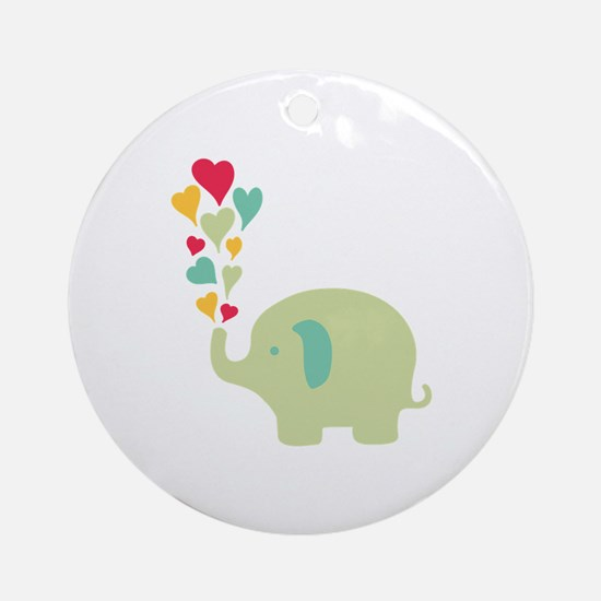 Baby Elephant Ornament (Round)