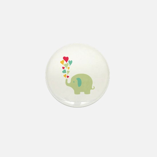 Baby Elephant Mini Button