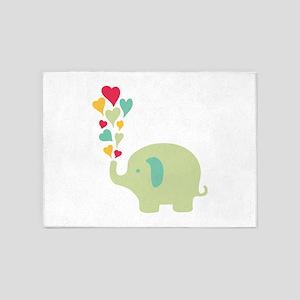 Baby Elephant 5'x7'Area Rug