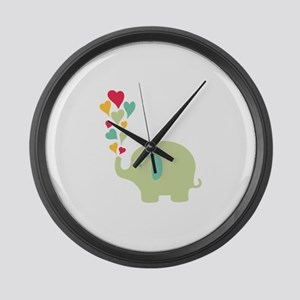 Baby Elephant Large Wall Clock