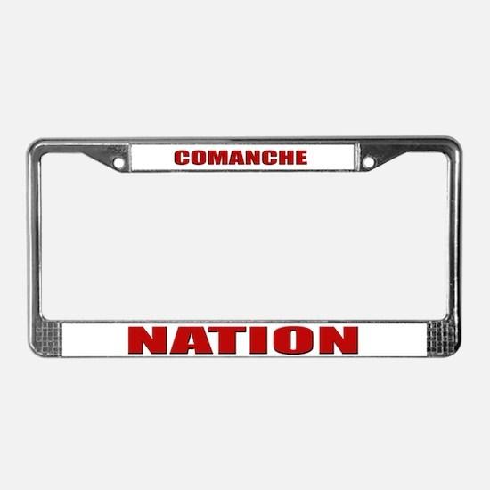 Comanche Nation License Plate Frame
