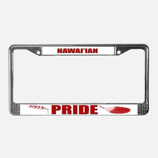 Hawai'ian Pride License Plate Frame