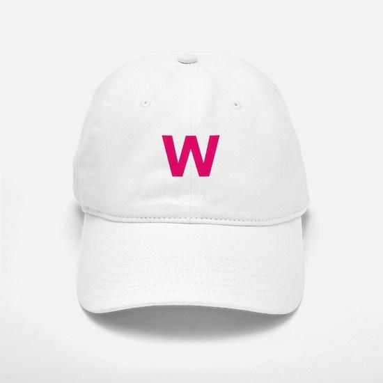 Letter W Pink Baseball Baseball Baseball Cap