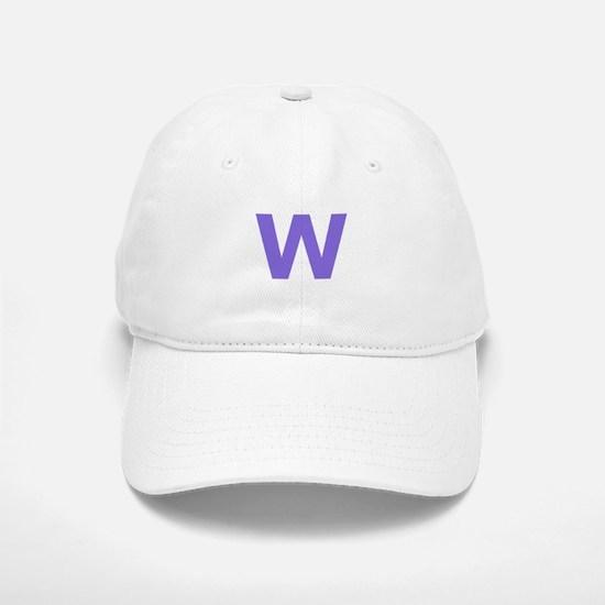 Letter W Purple Baseball Baseball Baseball Cap