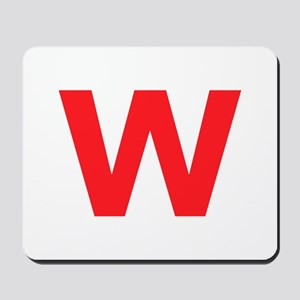 Letter W Red Mousepad