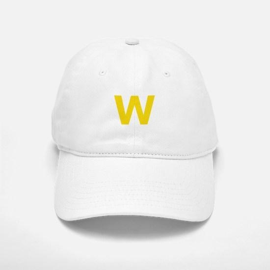 Letter W Yellow Baseball Baseball Baseball Cap
