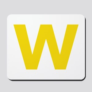 Letter W Yellow Mousepad