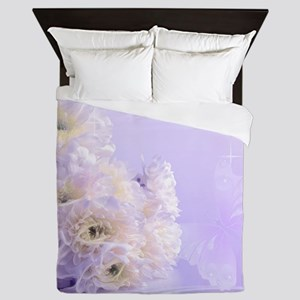 White Flower Queen Duvet