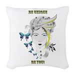 Be Unique Woven Throw Pillow