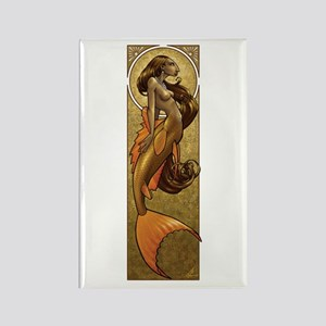 Bronze Mermaid Nouveau Rectangle Magnet