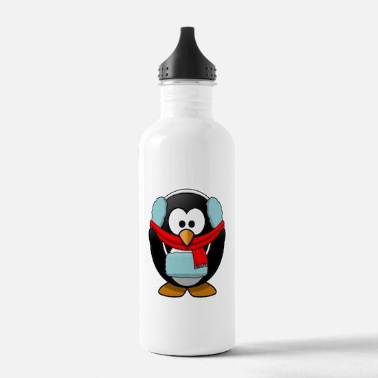 Winter Penguin Water Bottle