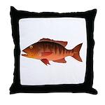 Cubera Snapper dark Throw Pillow