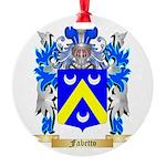 Fabetto Round Ornament