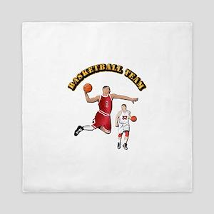 Sports - Basketball Team Queen Duvet
