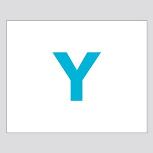 Letter Y Blue Posters