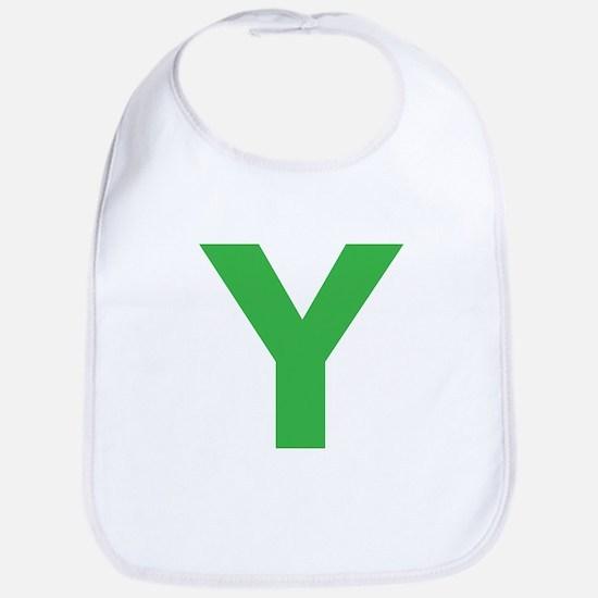 Letter Y Green Bib
