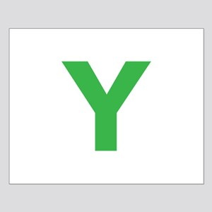 Letter Y Green Posters