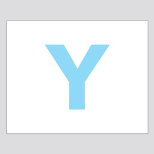Letter Y Light Blue Posters