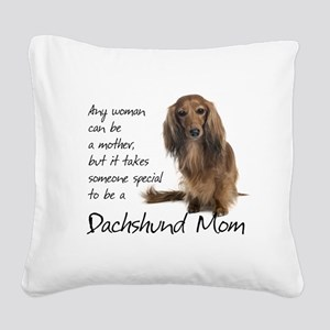 Dachshund Mom Square Canvas Pillow