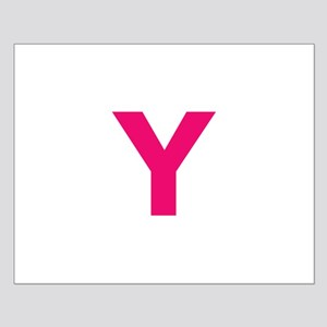 Letter Y Pink Posters