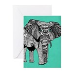 Elephant Of Namibia Greeting Cards (Pk Of 10) Gree