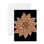 Incandescent Flower Greeting Card