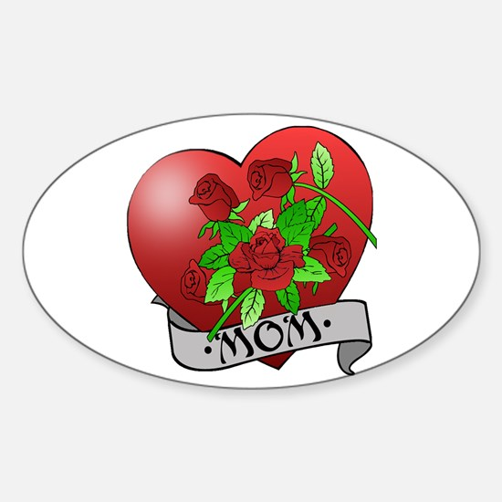 Mom Tattoo Mothers Day Oval Decal