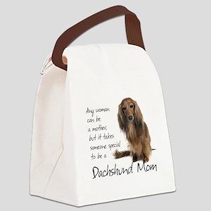 Dachshund Mom Canvas Lunch Bag