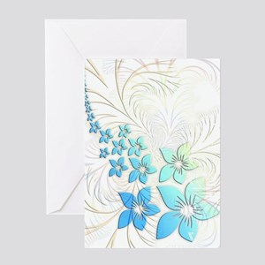 Floral Art and Design Greeting Card
