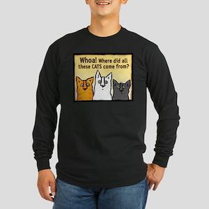"""Whoa!"" Long Sleeve Dark T-Shirt"