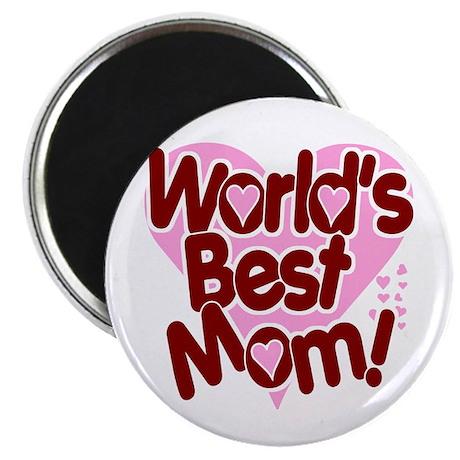 """World's BEST Mom! 2.25"""" Magnet (100 pack)"""