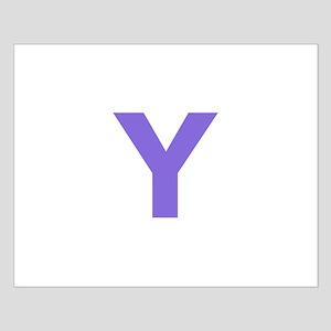Letter Y Purple Posters