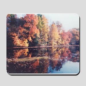 Reflections of a Mass. Autumn  Mousepad