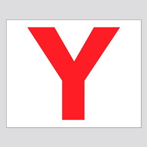 Letter Y Red Posters