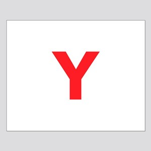 Letter Y Red S Posters