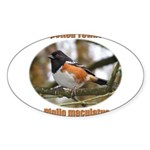 Spotted Towhee Oval Sticker