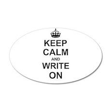 Keep Calm and Write on Wall Sticker