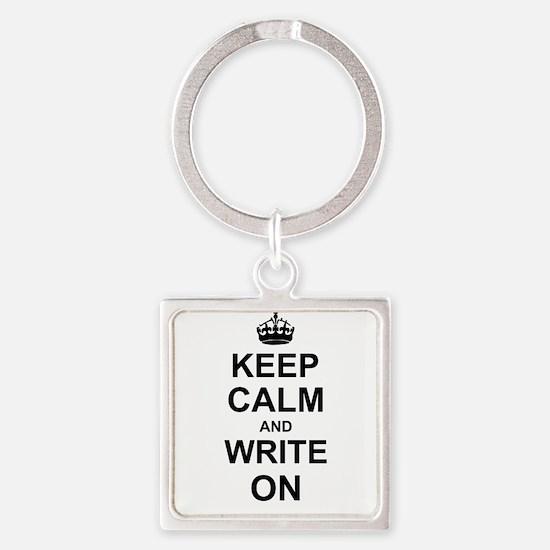 Keep Calm and Write on Keychains