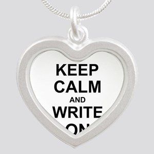 Keep Calm and Write on Necklaces