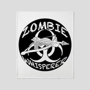 Zombie Whisperer 4ab Throw Blanket