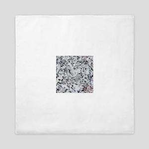 Faux Granite look graphic Queen Duvet