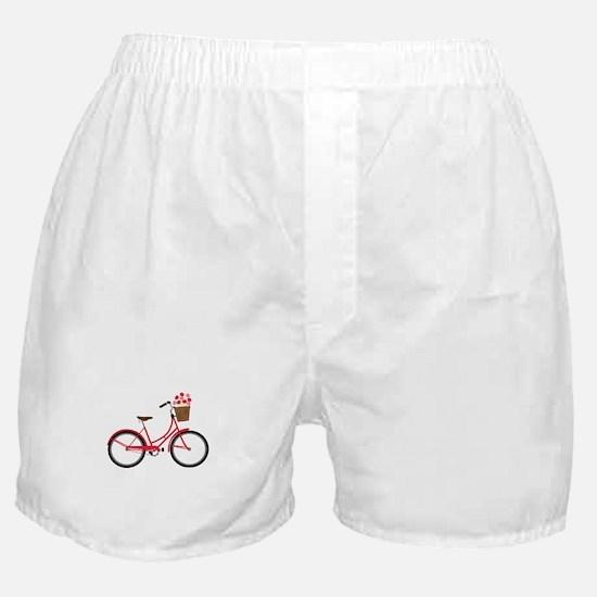 Bicycle Bike Flower Basket Sweet Ride Boxer Shorts