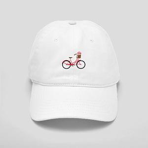 Bicycle Bike Flower Basket Sweet Ride Baseball Cap