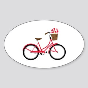 Bicycle Bike Flower Basket Sweet Ride Sticker