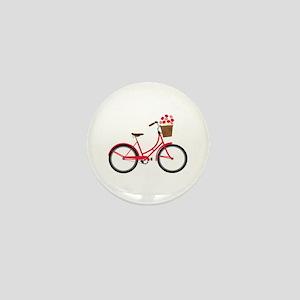 Bicycle Bike Flower Basket Sweet Ride Mini Button